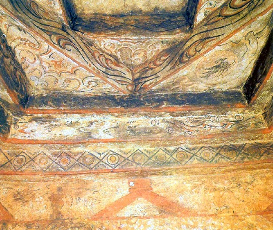 Ceiling painting of ancient Korean tomb