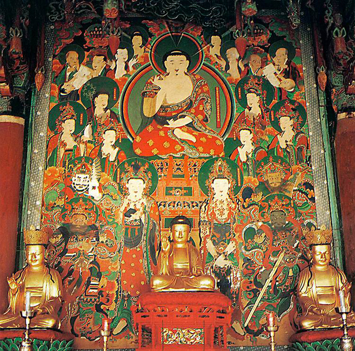 Image gallery korean buddhist art for Buddha mural art