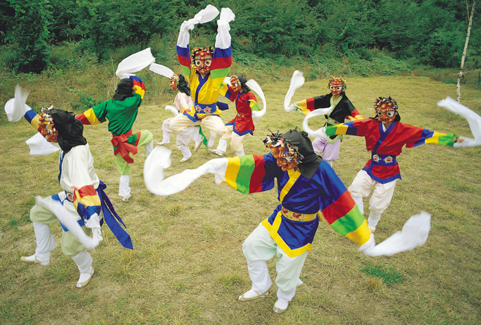 Korean mask dance Bongsan talchum