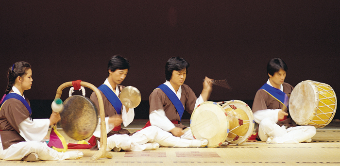 Samulnori Korean Percussion Instrumental Quartet Music
