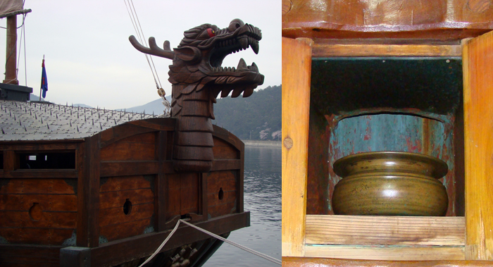 Dragon head of turtle ship