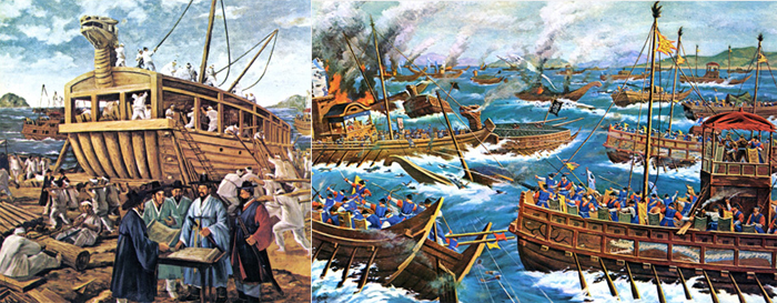 Turtle ship battle and admiral Yi Sun-shin