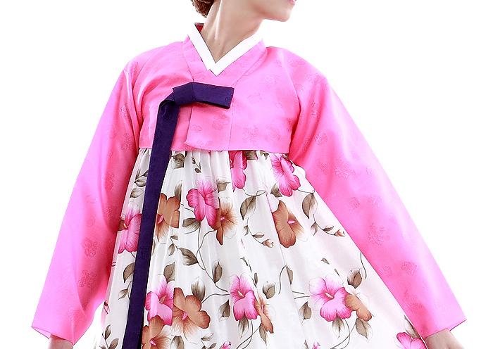 Hanbok pink Jeogori upper garment