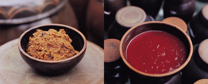 Doenjang soybean paste gochujang pepper paste