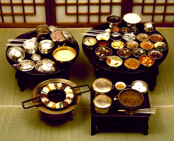 Korean royal court king's meal