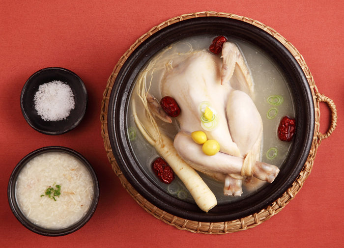 Samgyetang Korean Chicken Soup with Ginseng