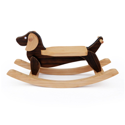 Miniature Wooden Rocking Dog Dachshund Home Decor Ornament