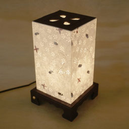 Paper Table Lamp Shade With Flower Design Lantern Light