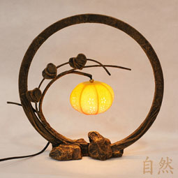 Paper lamps antique alive globe table lamp with flower bud korean mulberry paper shade mightylinksfo