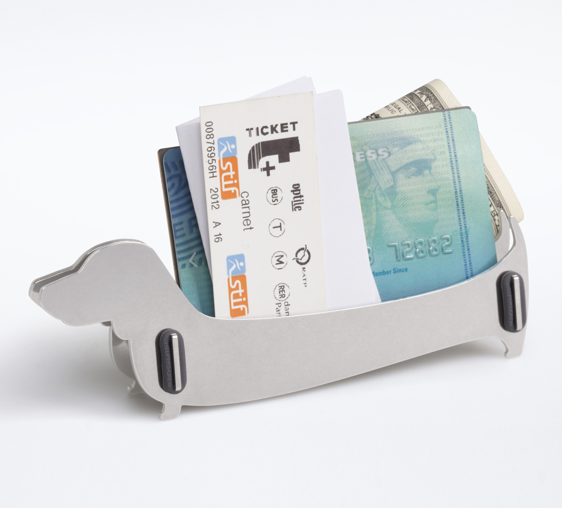 Dog Design Stainless Steel DIY Desktop Business Card Holder Stand ...
