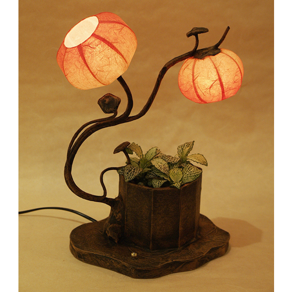 Rice paper table lamp shades with maehwa flower buds - Flower shaped lamp shades ...