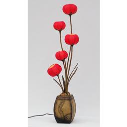 Antique alive for Red 5 light floor lamp