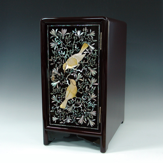 Mother Of Pearl Lacquered Furniture With Flower Birds Bats And Arabesque Antique Alive