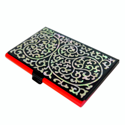 Business card holder antique alive mother of pearl business card holder with arabesque design colourmoves