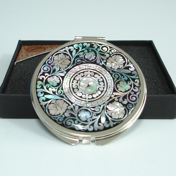 Miroir loupe de poche symbole yin yang style arabesque ebay for Miroir loupe