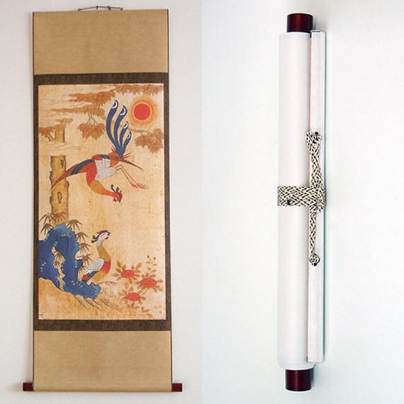 Wall Hanging Home Room Decor Accent Scroll Folk Asian Art