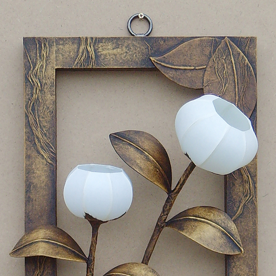 Bedside Wall Lamp Shades : Bedside Wall Lamp Lighting Paper Shades with Picture Frame Design - Antique Alive
