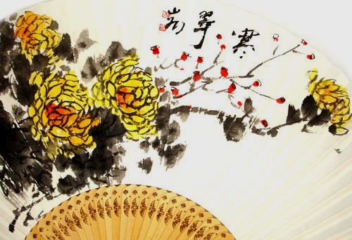 Chrysanthemum flower painting