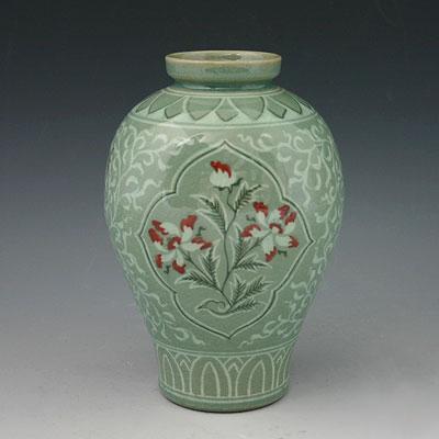 Vase c ladon poterie c ramique cor e couleur vert goryeo - Vases decoration interieure ...