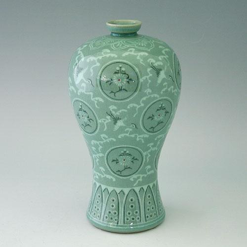 Korean Celadon Maebyong Vase, Koryo, 11th Century