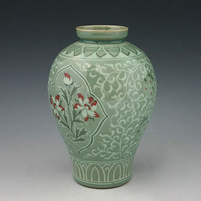 vase c ladon poterie c ramique cor e couleur vert goryeo originale bouddha lotus ebay. Black Bedroom Furniture Sets. Home Design Ideas