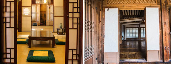 Hanji Korean mulberry paper door if Hanok