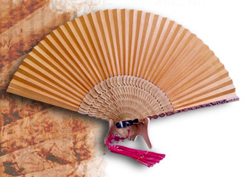 Hand Fans Made Of Korean Mulberry Paper And Bamboo Strips