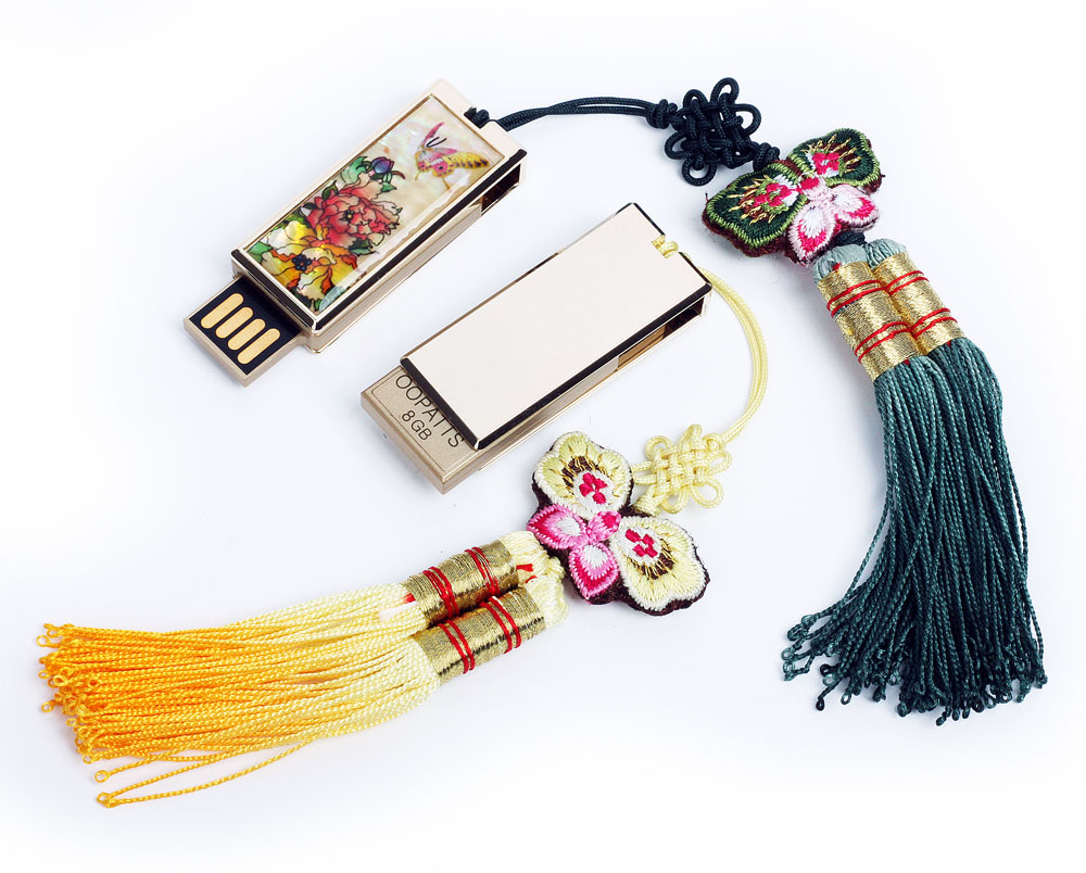 Mother of pearl antique alive mother of pearl peony usb flash drive with korean traditional tassel magicingreecefo Image collections